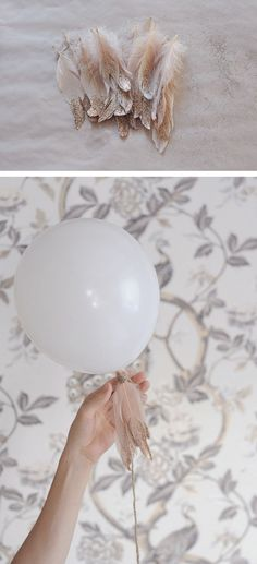 LOVE these! Said I didn't want balloons but these are really pretty! Could use the really big white balloons @ put the weight in a sprayed jar with the table number on!