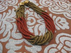 Red & Gold Twisted Chain Necklace  $18