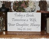 Custom Thank You for Raising the Man (or Woman) of My Dreams -WOOD SIGN- Daughter (or Son) in Law to Mother in Law Gift  Wedding Shower. $20.00, via Etsy.