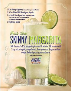On The Border's Fresh Lime Skinny Margarita