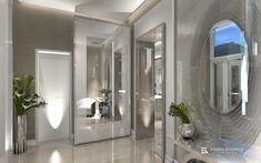 Elegáns, modern otthon, luxus kőburkolatokkal és lámpákkal. Tervező: Erdélyi Krisztina - belsőépítészet és lakberendezés Modern, Elegant, Luxury, Trendy Tree