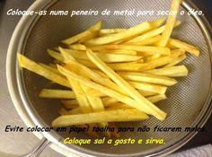 Receita de Batatas Fritas Sequinhas e Crocantes - Cyber Cook Receitas...