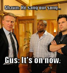 Anthony Michael Hall, Dule Hill, and James Roday on Psych. They now only need Emilio Estevez to be on there and they will have had all 5 members of the Breakfast Club!