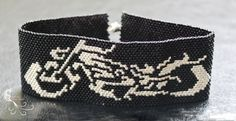 beaded bracelet beadwork bracelet beadwoven by CreationsLaetiRose