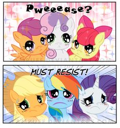 Irressistable Cutie Mark Crusaders! Comic Commish by *YamPuff on deviantART