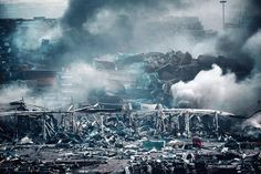 Aftermath of Tianjin Explosion Looks Like a Movie
