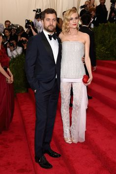 Pin for Later: Get a Load of All the Glamour on the Met Gala Red Carpet! Joshua Jackson and Diane Kruger