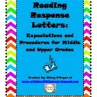 Free Download-Reading Response Letter Procedures and Expectations  Pinned by SOS Inc. Resources http://pinterest.com/sostherapy.