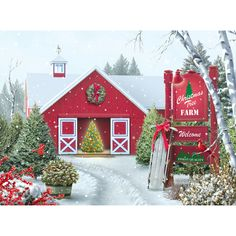 - Christmas Tree Farm 500 Piece Jigsaw Puzzle