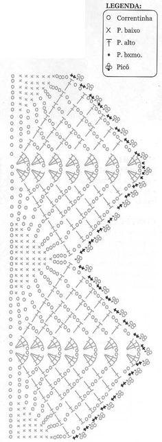 Crochet Edge - Chart ❥ 4U hilariafina  http://www.pinterest.com/hilariafina/