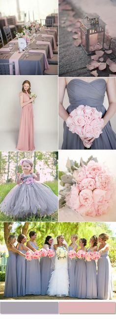 Elegant pink and gray wedding color schemes for your inspiration