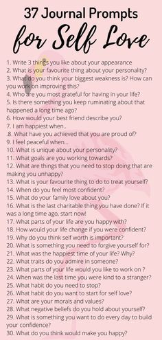 37 Journal Prompts for self love. Journaling therapy can improve mental health reduce anxiety. Men and women can try these prompts to improve self esteem and confidence. Getting to know yourself can help reduce anxiety and feelings of low self worth. Self Mental Health Journal, Improve Mental Health, Mental Health Questions, Mental Health Care, Women's Health, Life Quotes Love, Self Love Quotes, Quotes Quotes, Feeling Happy Quotes