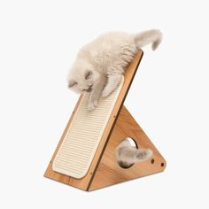 The Walnut Vesper Play Center is a small cat adventure playground. This piece of cat furniture can be used in various positions for more fun. Playstation, Animal Gato, F2 Savannah Cat, Pet Dogs, Pets, Pet Pet, Cat Playground, Wooden Cat, Play Centre