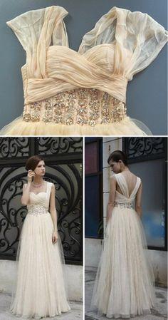Chiffon Wedding Gown :D so pretty! Wedding Bells, Wedding Gowns, Bridal Gowns, Wedding Cake, Wedding Venues, Wedding Bride, Chapel Wedding, Boho Bride, Pretty Dresses