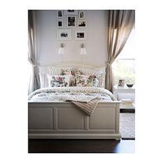 BIRKELAND Bed frame, white, Luröy - white - Standard 4ft6 Double - Luröy - IKEA