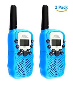 2Pcs-XFox-BBCARE-Serise-T388-Radio-2-Miles-22-FRS-and-GMRS-UHF-for-Kids-Blue