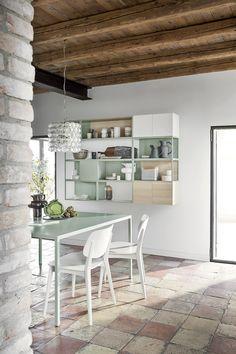 Ein Modernes Esszimmer In Zarten, Frischen Farben Von Novamobili. #Esszimmer  #diningroom #