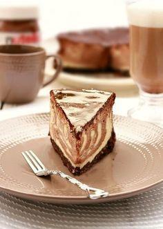 Tvarohovo – Nutelový cheescake Nutella, French Toast, Herbs, Breakfast, Recipes, Morning Coffee, Herb, Ripped Recipes