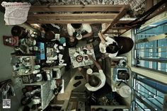 Despite being ranked by The Economist as the world's most livable city, Hong Kong has a huge number of people who lived in very cramped conditions. To highlight this issue, the Society for Community Organization comissioned these birds eye view photographs of people's cubicle-sized apartments.