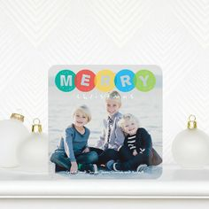 Stamped Sentiment -Holiday Photo Cards in a bright jewel green