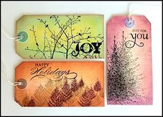 Penny Black Distressed Tags by Jenyfur - just gorgeous!