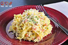 Low Carb Pasta Carbonara - Spaghetti Squash Carbonara with Pancetta and Parmesan
