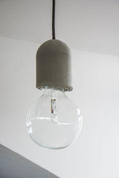 Decke Zement Zement-Suspension Lamp von AManoDesignIT auf Etsy