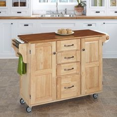 Kitchen Cart Drawer Shelf Storage White Natural Country Cottage New Rustic Kitchen Cart Review