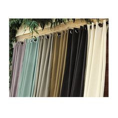 Need porch curtains and outdoor drapery? Get privacy porch curtains and outdoor drapery to beautify and screen any patio or deck at Ballard Designs! Outside Curtains, Outdoor Drapes, Porch Curtains, Outdoor Fabric, Outdoor Rooms, Indoor Outdoor, Outdoor Living, Outdoor Furniture, Outdoor Material