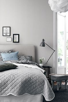 Wallpaper from the collection Marstrand with favorite stripes in neutral colors. So beautiful! http://scandinavianwallpaper.com/marstrand-2956