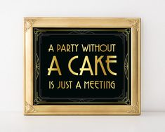 Roaring 20s party supplies A party without cake by GoldMoonParty