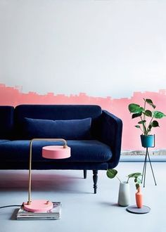 Decor hacks: partially painted wall