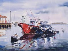 Puerto Bermeo 60x80 cm. Manuel Gandullo Nievas