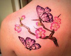Dogwood Flower Tattoo butterflies