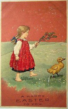 Vintage Easter Postcards . . . | Content in a Cottage