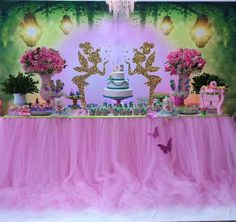1st Birthday Party For Girls, Fairy Birthday Party, Birthday Party Decorations, Birthday Parties, Tinkerbell Party Theme, Tinker Bell, Ideas, Tinkerbell Party, Tinkerbell Wallpaper