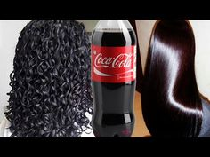 if you use coca colas on your hair, you will be surprised at their embellishment! Curly Hair Styles, Natural Hair Styles, Hair Extension Care, Beauty Youtubers, Curly Hair Routine, Hair Remedies, Unwanted Hair, Tips Belleza, Hair Health