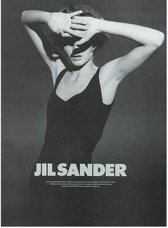 Some of my favorite Jil Sander ads