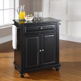 Found it at Wayfair - Cambridge Kitchen Island with Granite Top - except I got the one in white