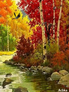 Nilzagifsanimados: Gardens and landscaping – Anastasia Stamatelou – Join the world of pin Scenery Pictures, Fall Pictures, Pictures To Paint, Nature Pictures, Watercolor Landscape, Landscape Art, Landscape Paintings, Beautiful Gif, Beautiful Places
