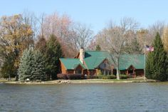 Norton's Island. Coldwater Lake. Coldwater, Michigan
