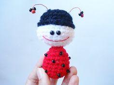 AllSoCute Amigurumis: Crocheted Ladybug, Crochet Pattern, Amigurumi Ladybug Pattern, Miniature