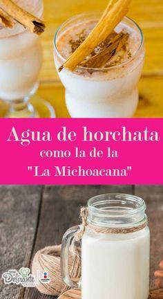 Receta de agua de horchata de la michoacana   CocinaDelirante