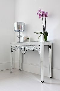 Mirrored Venetian Console Table