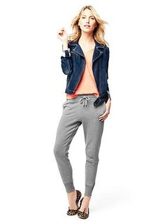 Is it wrong I really want these @Gap drop-rise, zip terry sweatpants? Those wide-cuff hems, skinny leg, and soft French terry...#sigh.