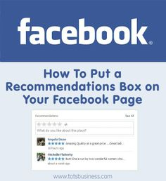 How To Put a Recommendations Box on your Facebook Page - Thinking Outside The Sandbox WAHM Small Business and Social Media