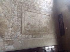 Abbazia di Chiaravalle - Sala consiliare il graffito del Castello Sforzesco