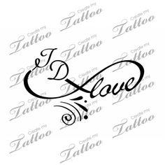Mother, Daughter Love Tattoo | love with infinity symbol #28816 | CreateMyTattoo.com