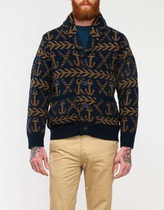 cozy-knitwear:  Anchors Sweater  Colour-working it!