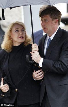 Senator Edward Kennedy's Funeral, 2009 - first wife Joan Bennett Kennedy and their son Patrick, Jr.